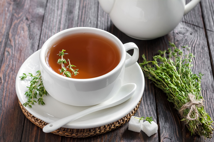 Thyme tea has many healthy benefits.